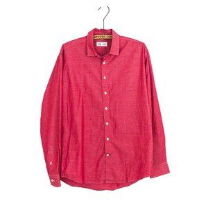 Frank & Oak Mens Button Up Top Red